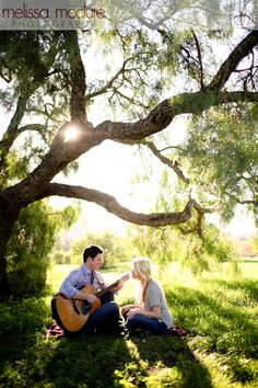 Melissa McClure Photography #engagement #guitar