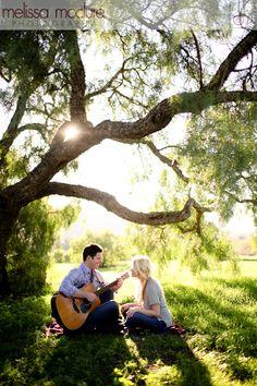 Melissa McClure Photography  #engagement #guitar