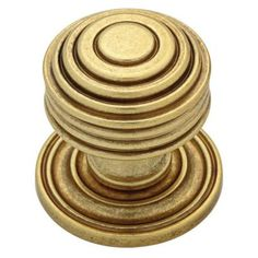 Martha Stewart Living 1-1/16 in. Bedford Satin Brass Beehive Cabinet Knob-P20637C-476-CP - The Home Depot