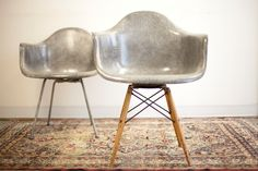 Want these in a ridiculous way!>> Rare 1st Production PAW Rope Edge Elephant Hide Grey Zenith Swivel Chair, Herman Miller