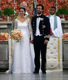 bernadottewindsor:  Wedding of Prince Carl Philip of Sweden and Sofia Hellqvist, June 13, 2015-Princess Sofia and Prince Carl Philip