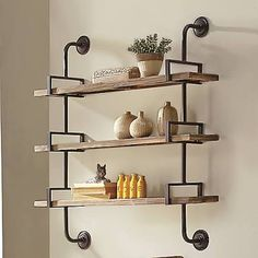 wrought iron wall mounted shelves - Google Search
