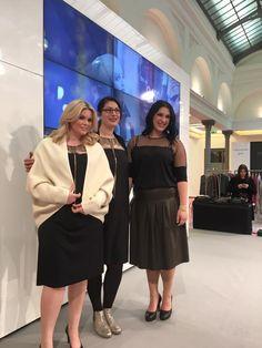 Miriam Jezek mit Ihren Modellen auf der Curvy - Berlin Fashion Week