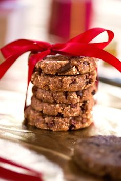 ♡ SecretGoddess ♡ www.pinterest.com/secretgoddess/ Coconut Chocolate Chip Cookies by Gena Hamshaw  from Choosing Raw