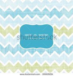 Fabric textured chevron stripes frame seamless pattern background - stock vector