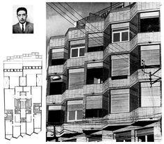 Apartment building in Carrer de Queralt Sarrià-Sant Gervasi, Barcelona, Spain; 1960's