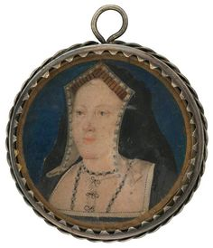 Katherine of Aragon attributed to Lucas Horenbout (or Hornebolte) watercolour on vellum, circa 1 in. mm) diameter Lent by an anonymous lender, 2009 Primary Collection NPG National Portrait Gallery, London Wives Of Henry Viii, King Henry Viii, Mary I Of England, Isabel I, Tudor Dynasty, Renaissance Portraits, Catherine Of Aragon, Plantagenet, Henry Viii