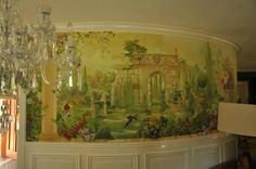 Garden Mural at a Dining Room