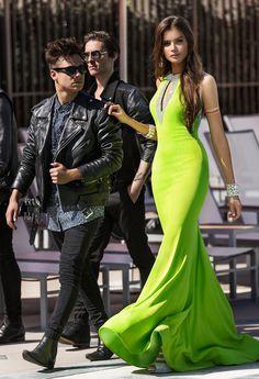 Glitter Keyhole Neckline Prom Dress #camillelavie #CLVprom