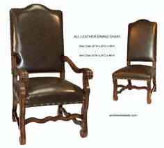 tuscan dining room chairs in dark chocolate upholstery with a dark