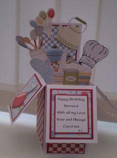Pop up Birthday box - chef/cook themed - bjl