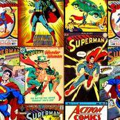 Superman by retropopsugar, Spoonflower digitally printed fabric
