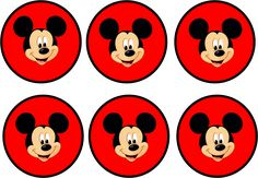 Mickey in Red: Free Printable Party Kit. Mickey E Minie, Fiesta Mickey Mouse, Mickey Mouse Clubhouse Birthday, Baby 1st Birthday, Mickey Mouse Birthday, Minnie Mouse Party, Mouse Parties, Theme Mickey, Mickey Party