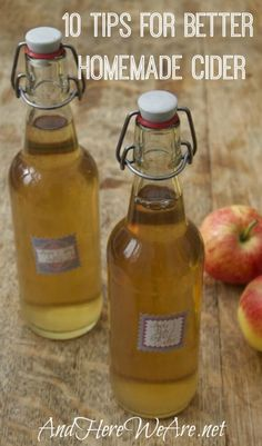 Have you been dabbling with making your own cider, but want to know how to make it even better? Here are some great tips for making better homemade cider.