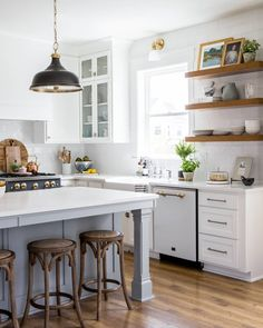 ​Design by @houseofjadeinteriors.  ​Photo by @lindsay_salazar_photography.  #thetileshop #kitchen #subwaytile #modernfarmhouse Kitchen Projects, Modern Country Kitchens, Kitchen Colors, Small Kitchen, Kitchen Decor, Builder Grade Kitchen, Vintage Farmhouse Kitchen, Home Kitchens, Kitchen Design