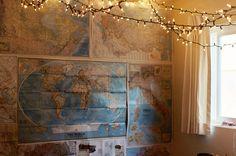 Maps & twinkle lights