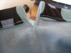 Interesting way to make the drawstring casing....on a lined bag