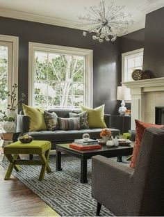 wall color... Color Changes Everything: Gray and Green Rooms