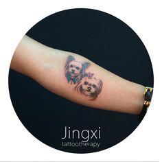 doggies. find artist in Shanghai via wechat: tattootherapy