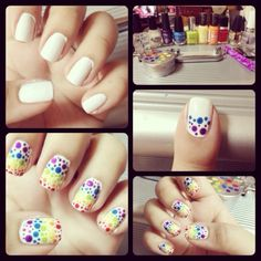 Very Easy Nail Art. Different Colors And Size Of Bubbles.