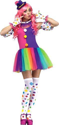 4741b1545e24 Bubble Up Tutu Clown Costume Set Adult Medium-Large 10-14