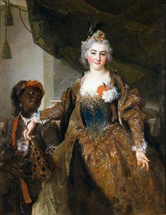 Charlotte-Amelia, princesse Rakoczi (ou la marquise de Sourcarières) et son page, c. 1722, Cologne, Wallraf-Richartz Museum.