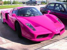 Enzo Ferrari...LORDY! A Fushia Ferrari! Be still my heart!