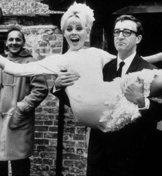 Britt Ekland getting hitched to Peter Sellers.