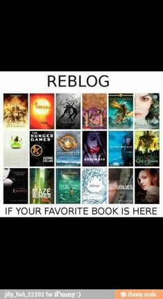 Hunger games, divergent, maze runner, lost hero, red pyramid, lightning thief, and Harry potter