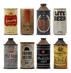 Awesome old beer cans
