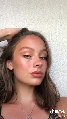 Cute Makeup Looks, Makeup Looks Tutorial, Makeup Eye Looks, Pretty Makeup, No Make Up Makeup, Brown Makeup Looks, Vintage Makeup Looks, Normal Makeup, Full Makeup