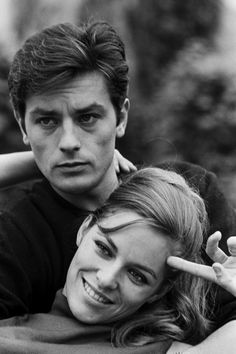 Natalie and Alain Delon ~ Check out for more pins…
