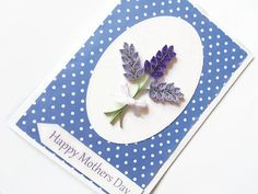 Lavender Mothers day Card quilled cards quilled by KaisCards