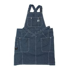 [GSA-28] CAMPERS APRON / HICKORY Gardening Apron, Clothing Hacks, Overall Shorts, Campers, Denim Aprons, Overalls, Valencia, Fabric, Buttons