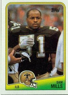 Sam Mills RC (Rookie Card) New Orleans Saints (Football Card) 1988 Topps #65 by Topps. $1.39. 1988 Topps #65 - Sam Mills RC (Rookie Card)