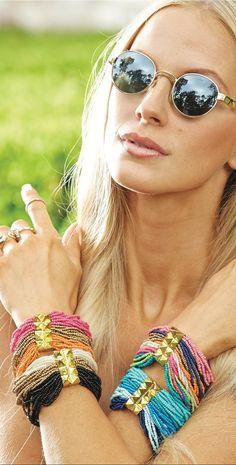 Mud Pie Daphne Beaded Bracelets  #MudPie #Bracelets southbeachswimsuits.com