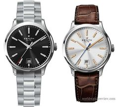 Zenith Elite Captain Central Second automatic watch in stainless steel