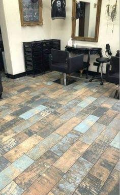 Wood Effect Floor Tiles, Tile Floor, How To Distress Wood, Rustic Charm, Kitchen Flooring, Rustic Wood, Home Decor, Decoration Home, Room Decor