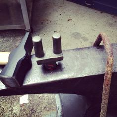 Blacksmith tools and anvil