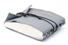 modern gray leather journal   by brandon heyer #gray