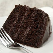 """Favorite Fudge Birthday Cake. """"A moist cake that keeps well without refrigeration; looks spectacular when cut, and tastes even better than it looks!"""" (King Arthur Flour)."""
