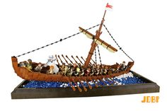 Rowing home aboard the Anglo-Saxon ship of Sutton Hoo Bateau Lego, Lego Boat, Sutton Hoo, Lego Knights, Lego Sculptures, Amazing Lego Creations, Lego Ship, Lego Pictures, Lego Castle