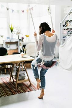 16 Indoor Swings That Bring Out Your Inner Kid | Brit + Co