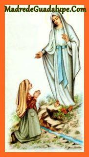 ORACIONES MILAGROSAS A LA VIRGEN DE GUADALUPE: Oración Poderosa  a Nuestra Señora de Lourdes cont...