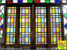 Iloilo Ancestral Houses: The Sanson y Montinola Antillan House in Jaro Antique House, Mansion, Philippines, Stained Glass, Art Nouveau, Projects To Try, Tropical, Houses, Windows