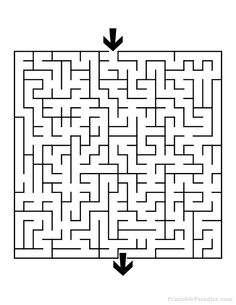 Print a wide variety Mazes for Free. Printable Mazes for all ages. Different Levels of Mazes in Printable Format. Preschool Activities At Home, Road Trip Activities, Mazes For Kids Printable, Kids Mazes, Cutting Practice Sheets, Maze Drawing, Maternelle Grande Section, Maze Puzzles, Square