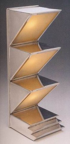 Donald Deskey, table lamp. Chrome-plated metal and glass. American, c.1927.