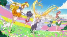 Sailor Moon Crystal Act 9 - Princess Serenity and her Guardians with Luna and…