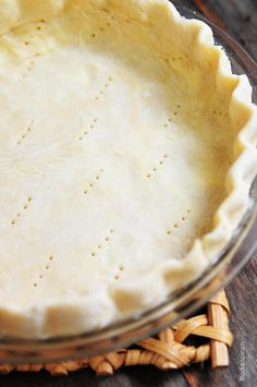 Perfect Pie Crust Recipe - A pie crust recipe that works perfectly for sweet and savory pies. Made by hand and so easy!