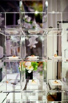 lucite hors d'oeuvres  display